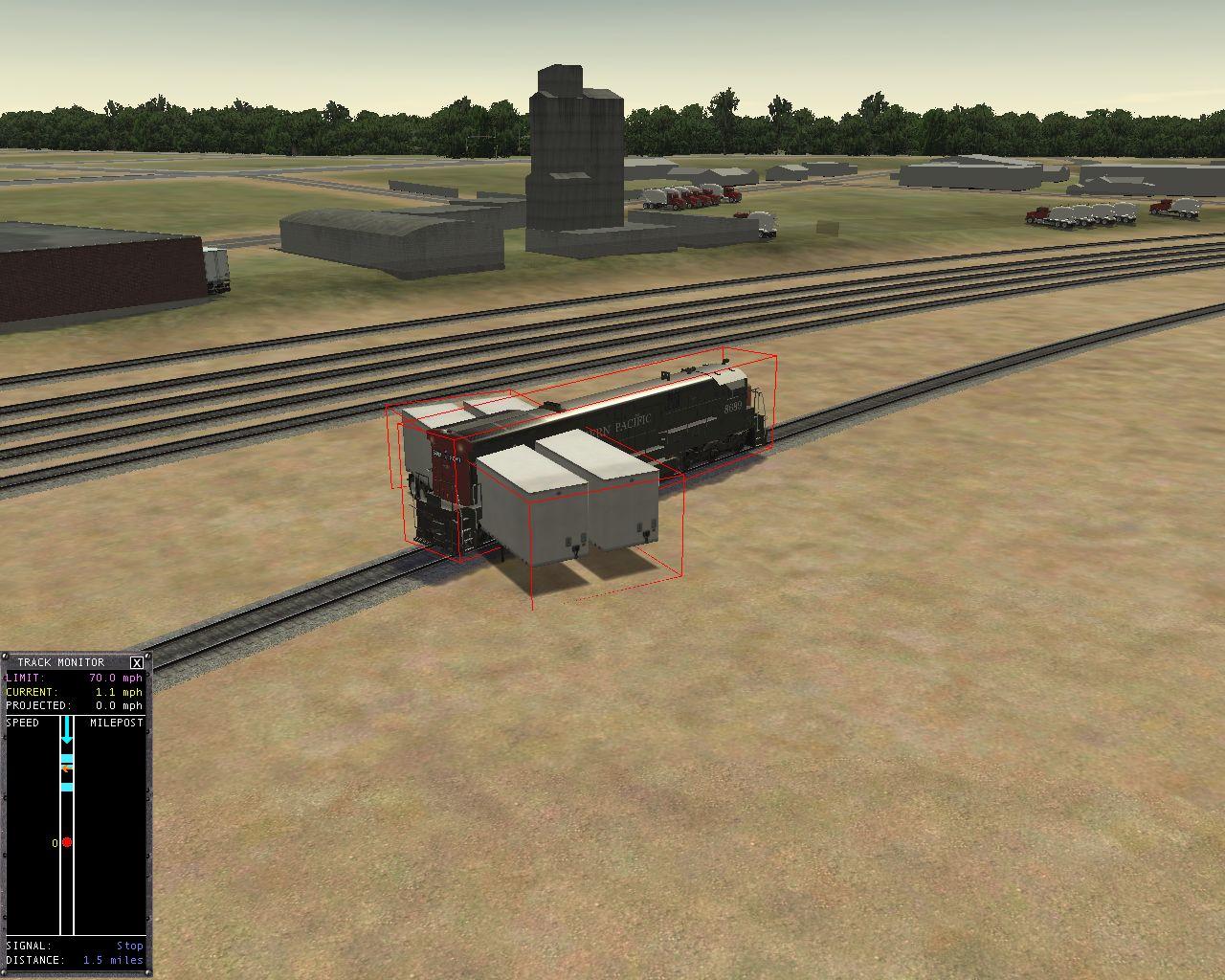 3DT_Car_TrailerG142a in simulator